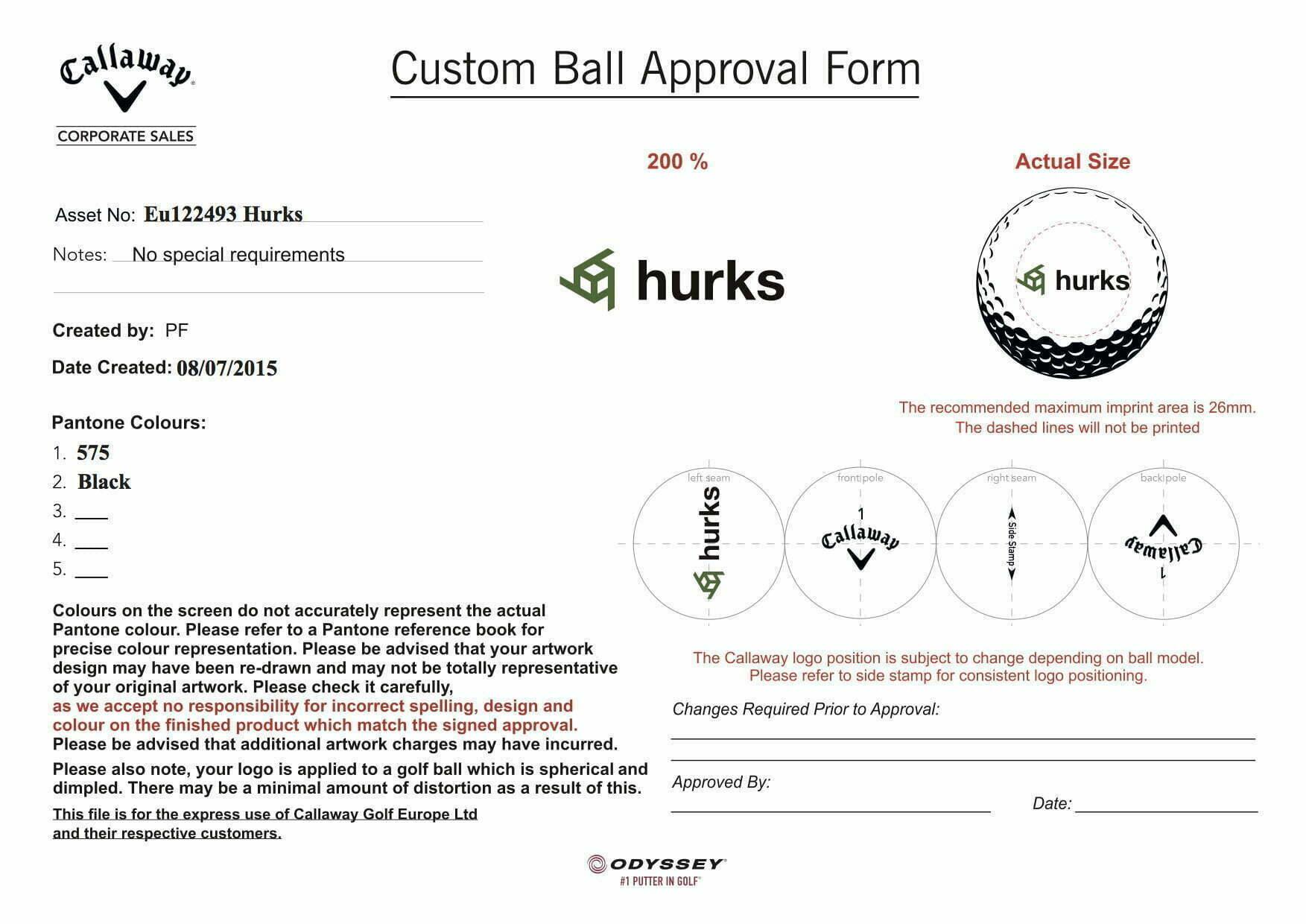 golfballen bedrukken logoproef digitale proef