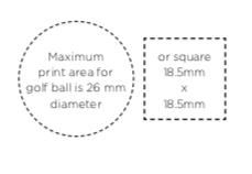 Afmertingen logo's Callaway golfballen