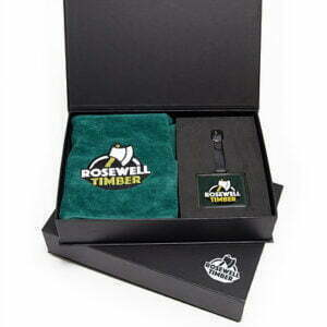 metal bag tag presentatie box