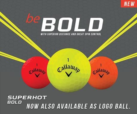 Callaway Superhot Bold matte golfballen